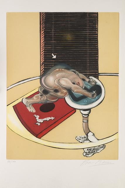 Francis Bacon, 'Figure at a Washbasin, from Requiem pour la Fin des Temps', 1976, Il Ponte