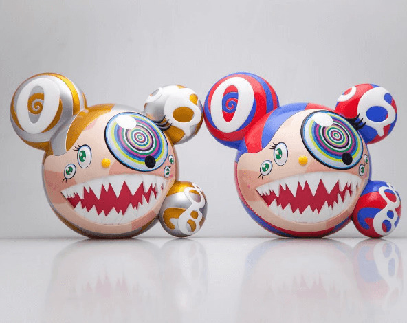 Takashi Murakami, 'Mr. DOB (set of two)', 2016, Sculpture, Painted PVC, EHC Fine Art