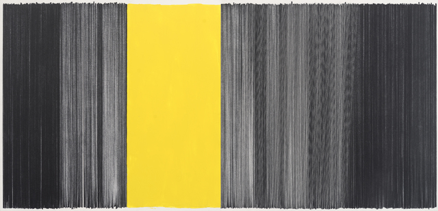 , 'drawing black yellow,' 2014, Carrie Secrist Gallery