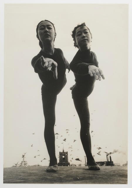 , 'On the roof of Nichigeki Theater,' 1955, MEM