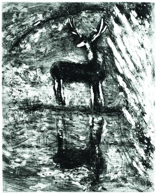 Marc Chagall, 'Le Cerf se Voyant dans L'Eau', 1952, Wallector