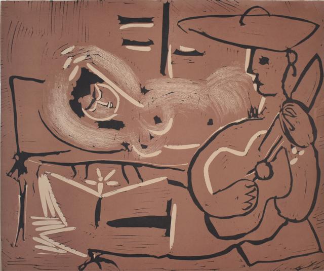, 'Woman Reclining and Guitarist | Femme couchée et guitariste,' 1959, Gilden's Art Gallery