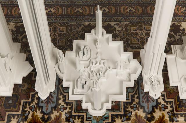 Babak Golkar, 'Negotiating Spaces No. 10', 2016, Sculpture, Persian carpet, plexiglass, wood and laquered paint, Sabrina Amrani