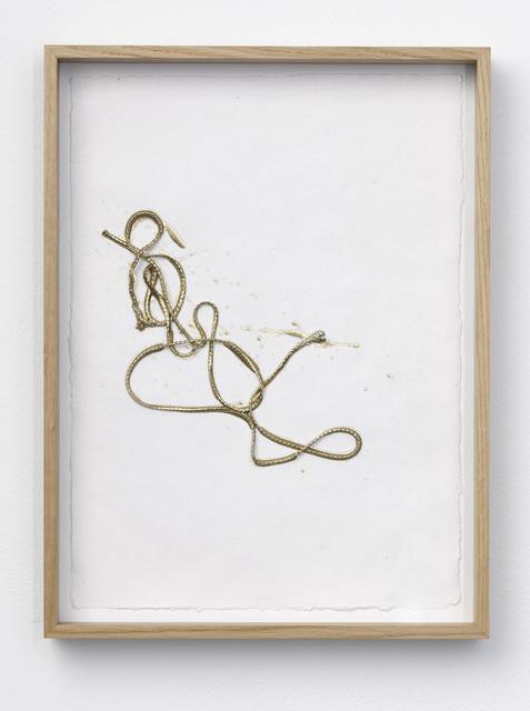, 'Line Drawing (gold) #3,' 2017, Galerie Nikolaus Ruzicska