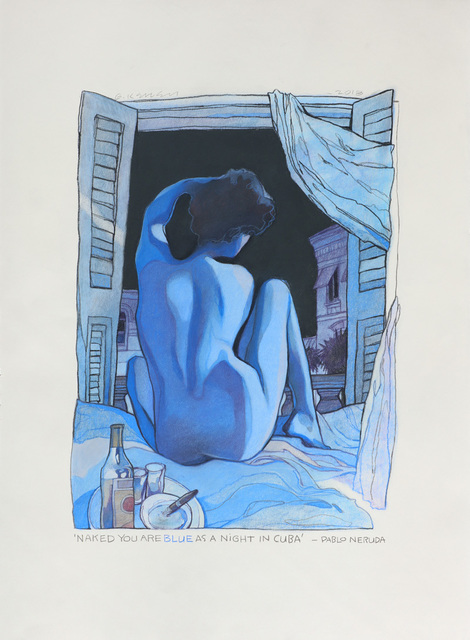 , 'Naked You Are Blue,' , Moberg Gallery