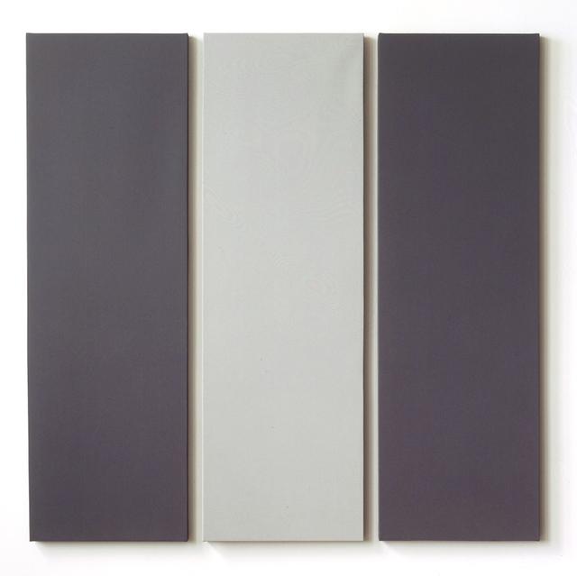 , '3 Part Painting in 2 Greys,' 2001, Von Lintel Gallery