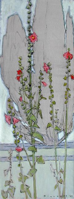 , 'Hollyhock & Cypress,' , Bau-Xi Gallery