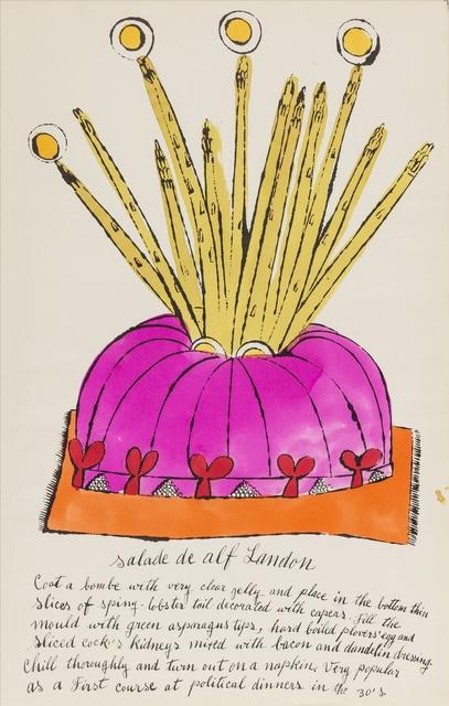 Andy Warhol, 'Salade de Alf Landon (from Wild Raspberries) (see Feldman & Schellmann IV.126.A)', 1959, Forum Auctions