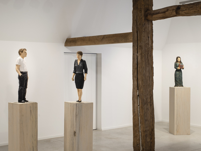 Stephan Balkenhol, 'Mann Hand in der Tasche', 2020, Sculpture, Paint on wawa wood, KETELEER GALLERY