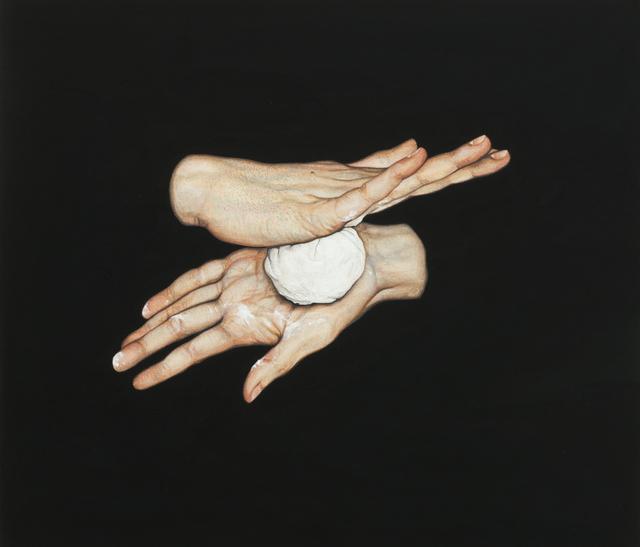 Lee Jinju, '정오에', 2020, Painting, Korean paint, handmade JB black on linen, Arario Gallery