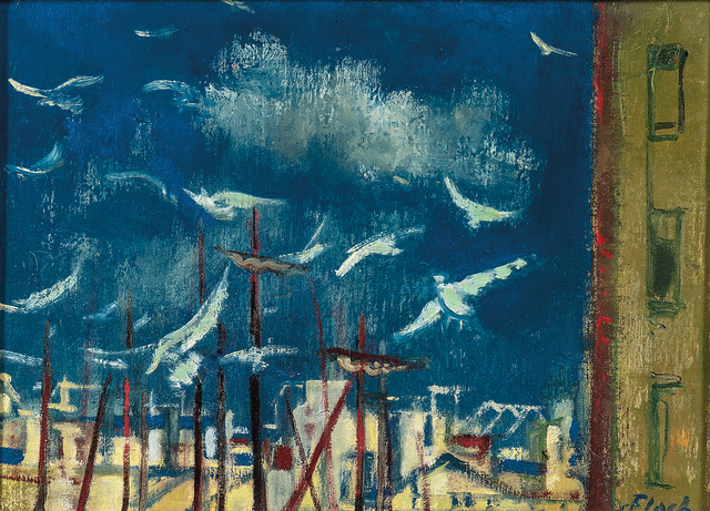 Josef Floch, 'Masts and Gulls', Skinner
