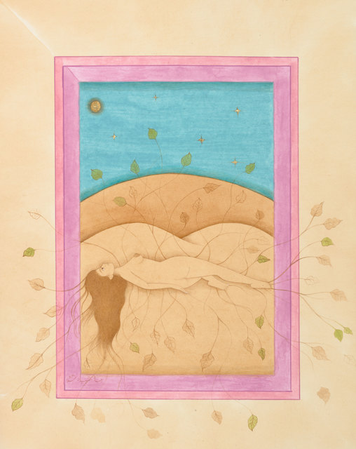 Hiba Schahbaz, 'Roots (After Frida)', 2020, Painting, Watercolor, gouache, tea and gold leaf on wasli, De Buck Gallery