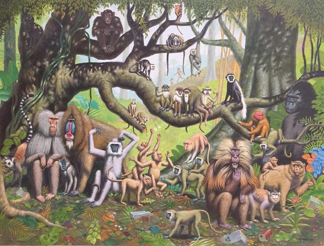 , 'Primates,' 2018, La Luz de Jesus Gallery