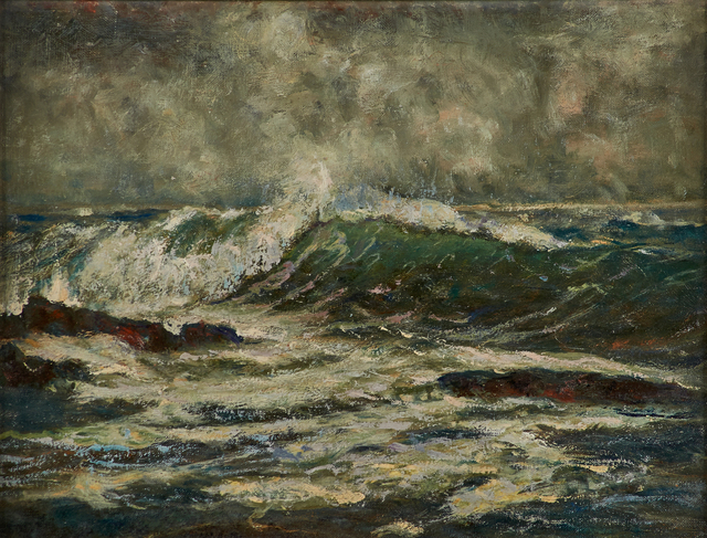 William S. Barrett, 'Maine Coast', ca. 1918, Painting, Oil on canvas mounted to board (framed), Rago/Wright
