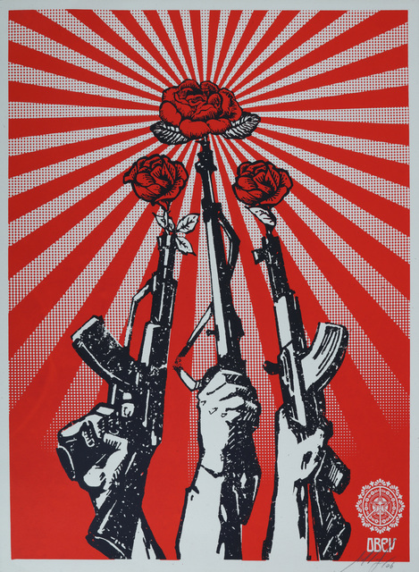 Shepard Fairey, 'Guns And Roses', 2007, Chiswick Auctions