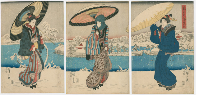 , 'View of the Shinobazu Pond at Ueno in Snow,' 1847-1848, The Art of Japan