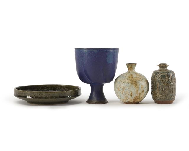 'Four studio pottery pieces', John Moran Auctioneers