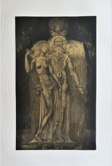 Ernst Fuchs, 'Kabbalah Gravures (THIRTY-TWO PATHS OF WISDOM by SEFER YETZIRA with 36 illustrations by ERNST FUCHS)', 1975, Books and Portfolios, 14 original engravings (etched engraving, etching-needle, soft varnish, burin), inset plates numbered and signed by the artist, 7 of them in a separate portfolio, 22 full-page colour illustrations in-text, Puccio Fine Art
