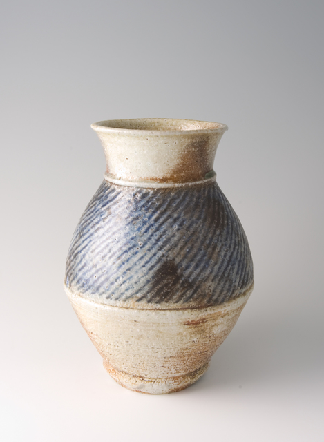 Tatsuzo Shimaoka, 'Vase, rope and slip inlay with cobalt blue salt glaze', Pucker Gallery