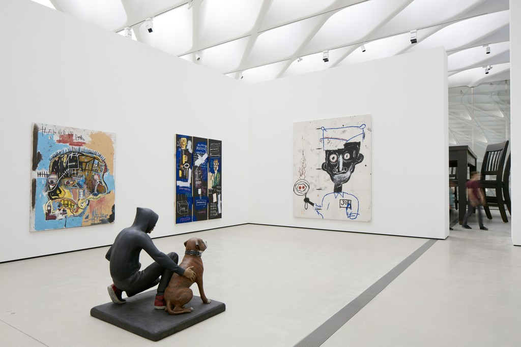 Installation of works by Jean-Michel Basquiat, John Ahearn and Robert Therrien in The Broad's third-floor galleries; photo by Bruce Damonte, courtesy of The Broad and Diller Scofidio + Renfro