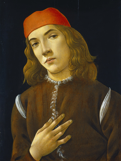 , 'Portrait of a Young Man,' 1490-1485, Victoria and Albert Museum (V&A)