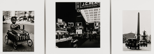 Fred Stein, 'Three Photographs: Place de la Concorde, Paris; Harlem, New York; and Marquee, New York', Skinner