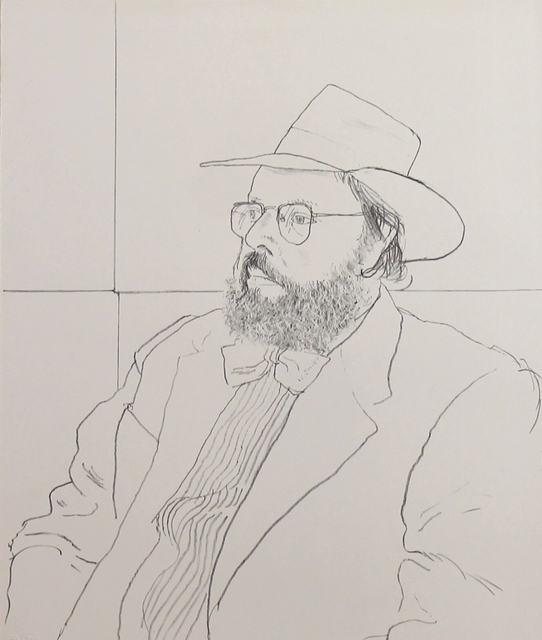 David Hockney, 'Henry Geldzahler with hat', 1976, Castlegate House Gallery