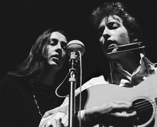", 'Bob Dylan and Joan Baez, ""Masks"", Lincoln Center NYC,' 1964, TASCHEN"