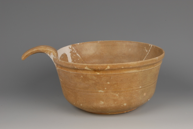 , 'Celadon handled-bowl,' 317-420, China Institute Gallery