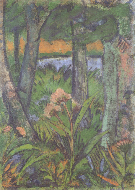 , 'Waldstück mit Blumen und Teich,' ca. 1925, Henze & Ketterer