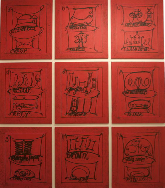 ", '""Untitled (Learning from that person's work: city, red)"",' 2009, Cristina Guerra Contemporary Art"