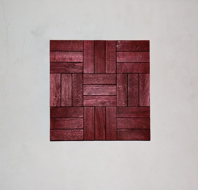 , 'Tessellation in wood I,' 2017, India Dickinson