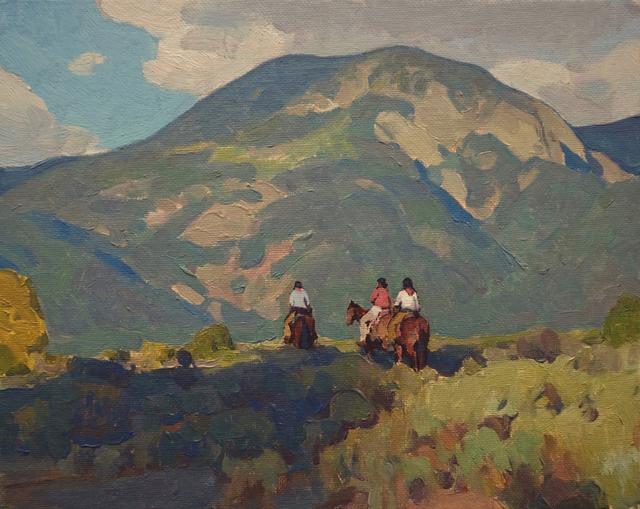 Glenn Dean, 'Taos Riders', 2018, Painting, Maxwell Alexander Gallery