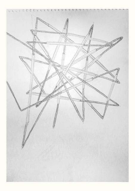 , 'Sin título (curvar el hierro),' 2014, Nora Fisch