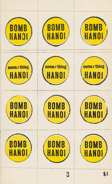 """Andy Warhol, 'Bomb Hanoi (Cover for Some/Thing """"""""A Vietnam Assemblage"""""""")', 1966, Swann Auction Galleries"""