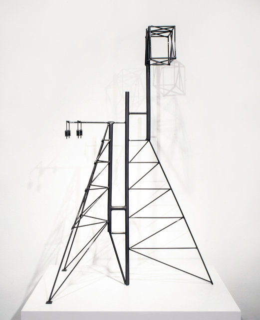 , 'Abstract Model Series #1 (Asymmetric tower structure with rear buttressing and elevated cage),' 2015, OTA Contemporary