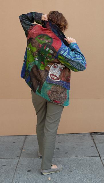 Christina Marie Fong, 'Untitled (Jacket)', 2018, Textile Arts, Mixed media on jacket, Creativity Explored