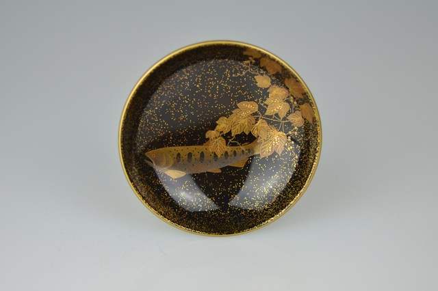 , 'Gold Lacquer Sake Cup with Brook Trout,' Early 21th Century, Galerie Kommoss