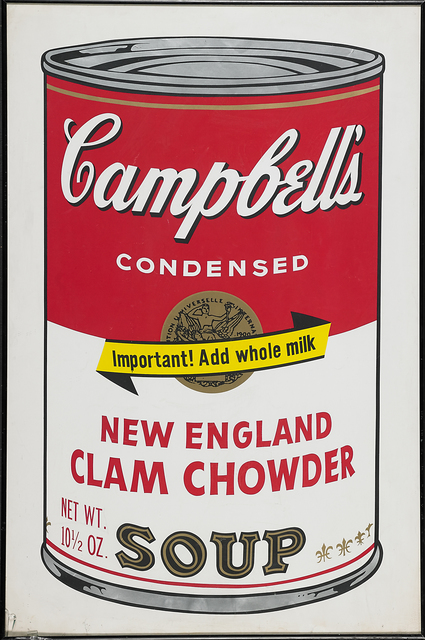 Andy Warhol, 'New England Clam Chowder from Campbell's Soup II', 1969, Rago