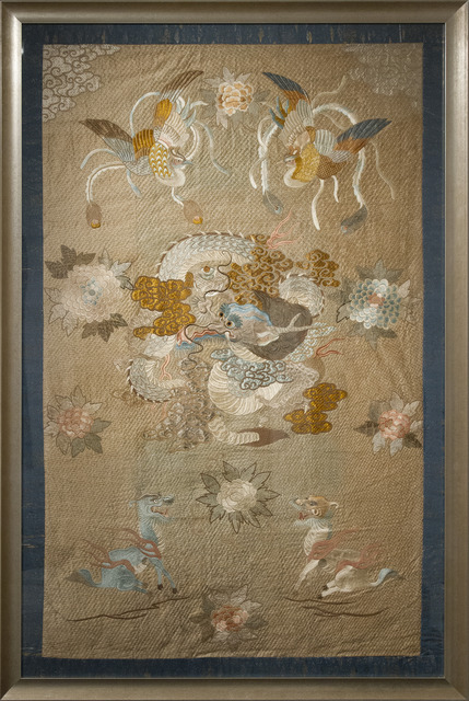 , 'Dragon Embroidery,' ca. 1890, Heather James Fine Art