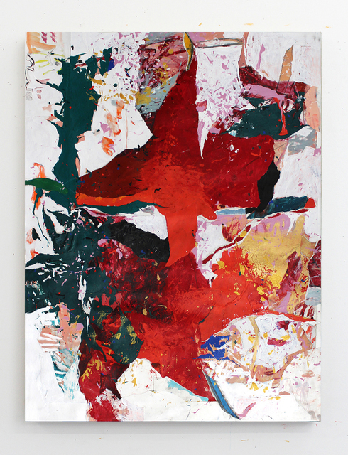 Joseph Hart, 'Under Ryhme 1', 2021, Painting, Collaged paper, acrylic, enamel, oil crayon and graphite on linen, Halsey McKay Gallery