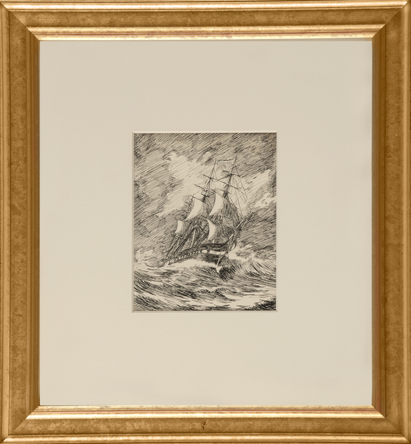 , 'Gallion in a Storm,' ca. 1900, Thurston Royce Gallery of Fine Art, LTD.