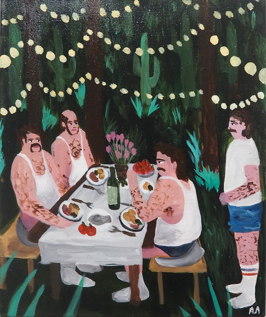 , 'This party is getting weird,' 2018, Kristin Hjellegjerde Gallery