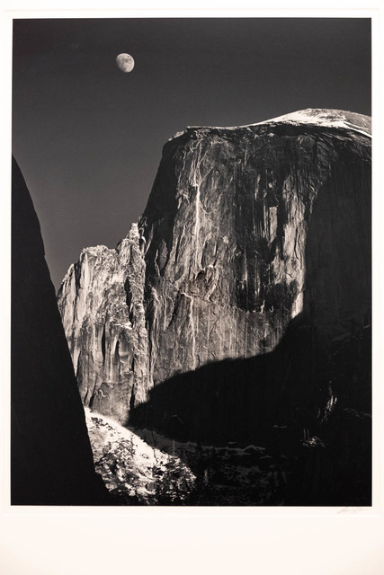 Ansel Adams, 'Moon and Half Dome', 1960, The Halsted Gallery