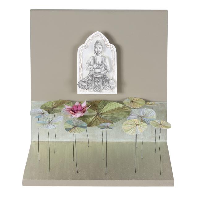, 'Buddha Garden with Lotus Flowers,' 2019, Beatriz Esguerra Art