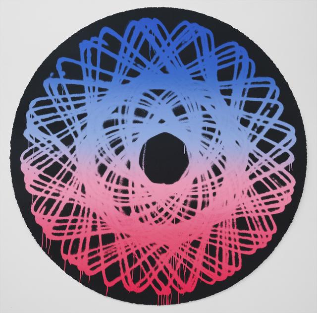Jason REVOK, 'Spirograph Black ', 2019, Print, Screenprint in colors on Coventry Rag paper, Rowang Gallery
