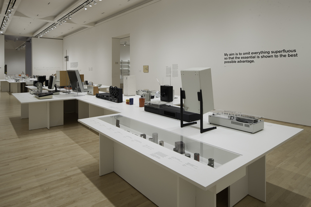", 'Installation view ""Less and More: The Design Ethos of Dieter Rams"",' 2011, San Francisco Museum of Modern Art (SFMOMA)"