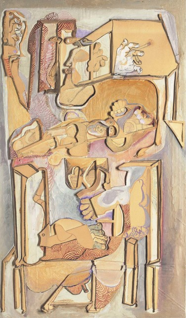 , 'Man with a Child in a Chair,' 1982, Jhaveri Contemporary