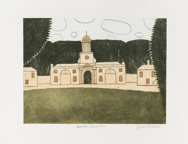 Julian Trevelyan, 'Wallington, Clock Tower (Turner 317)', 1975, Print, Etching, aquatint and soft-ground rprinted in colours, Forum Auctions