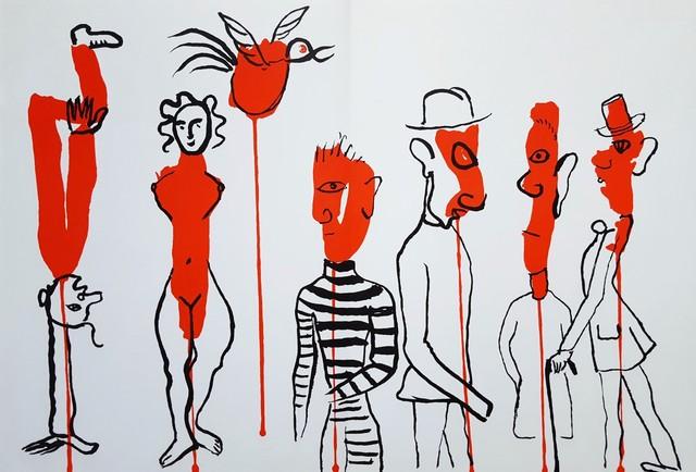 Alexander Calder, 'Derrière le Miroir No. 156 (Circus 3 - Les Gueules Degoulinantes)', 1966, Print, Lithograph, Graves International Art